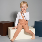 FOOTLESS SILLY SILAS TIGHTS WITH BRACES LIGHT BROWN