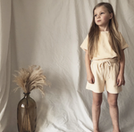 HUNTER AND ROSE TERRY SHORTS ALMOND