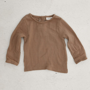 TINY TROVE ZIMI TOP MOCHA