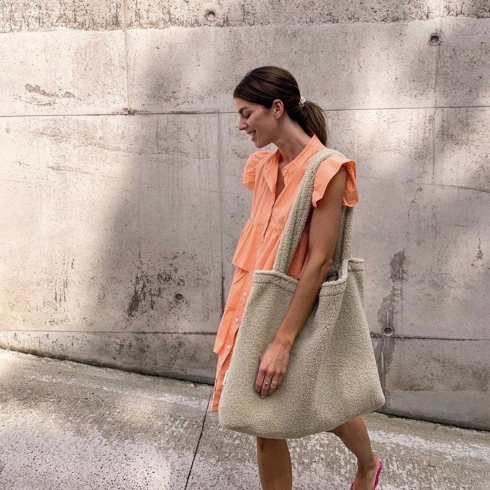ANGGO TEXTURED LEGGINGS RUST/COFFEE/CREAM