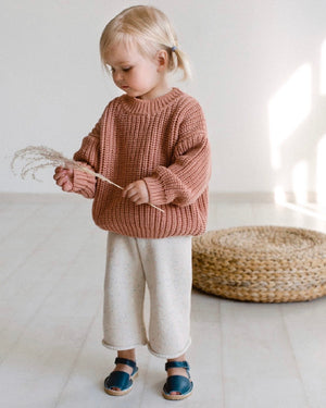 KIDS OF APRIL RAINBOW SPECKLE PANTS NATURAL