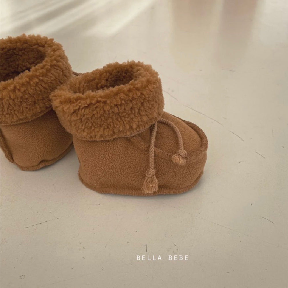 BELLABAMBINA BABY BOOTIES WHITE/CAMEL/CHARCOAL