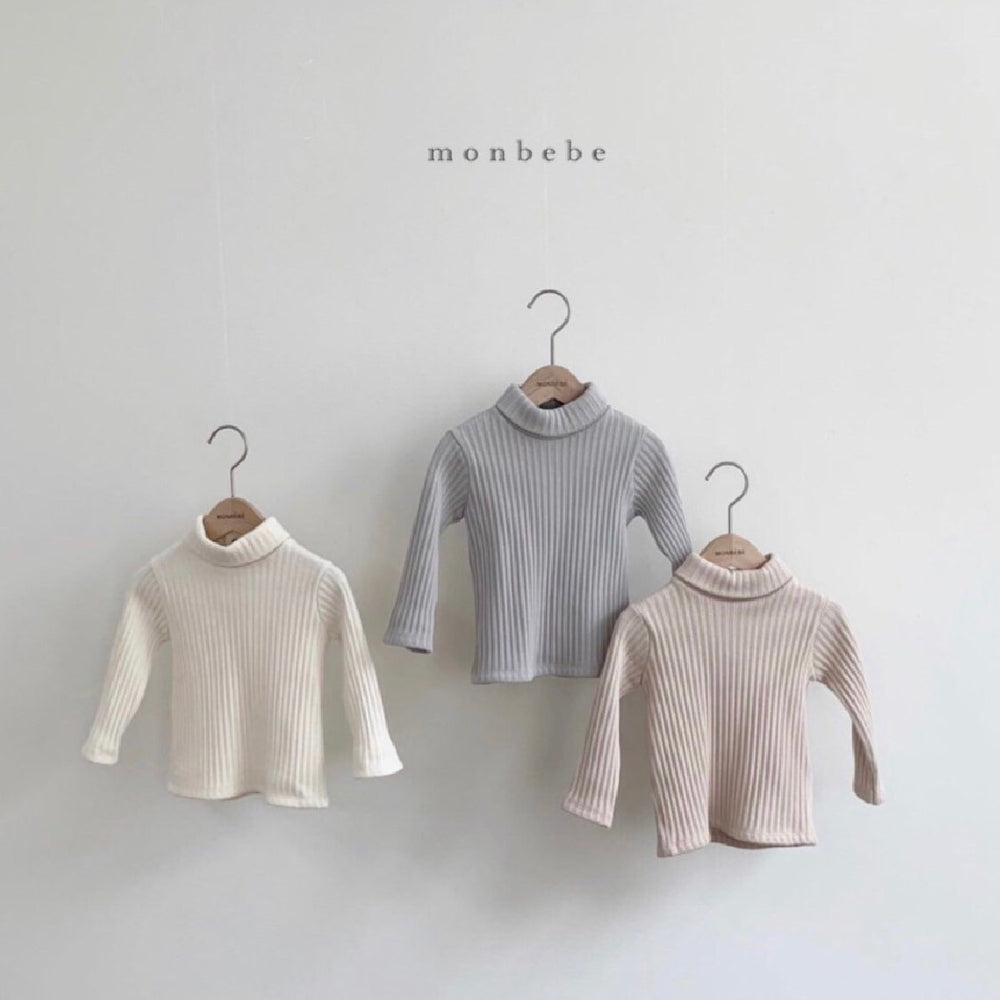 MONBEBE LONG-SLEEVED TOP DOVE/MILK/FAUNE