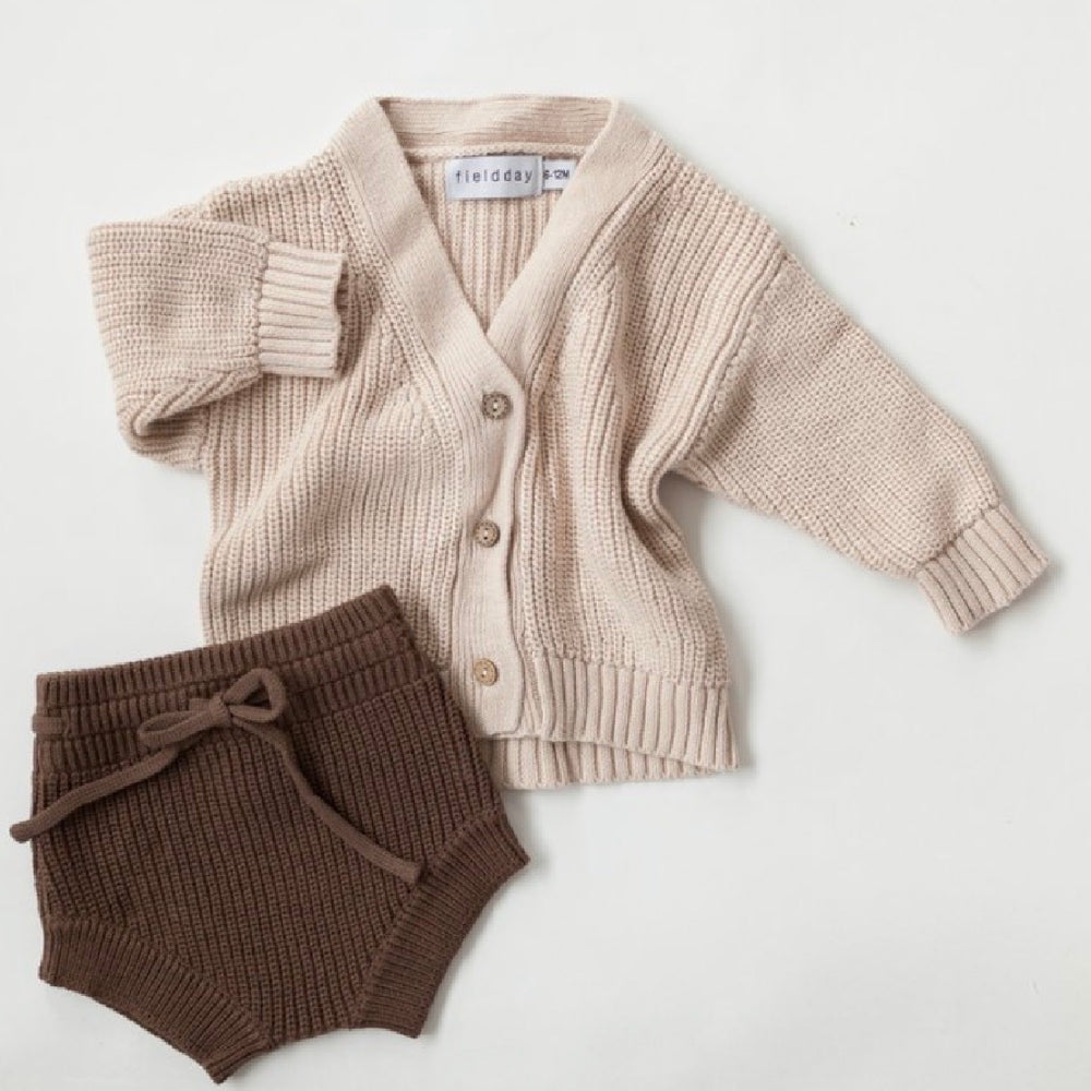 KINDLY CHUNKY KNIT SHORTIES ESPRESSO