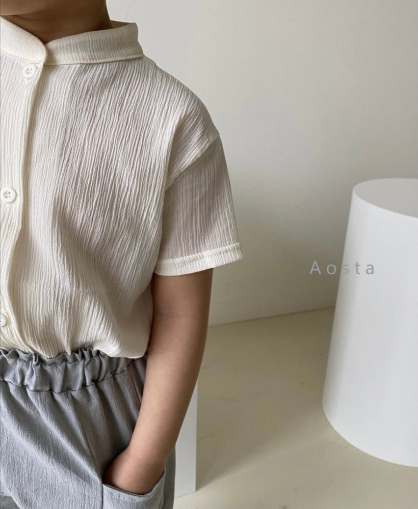 AOSTA SEMI-SHEER SHIRT IVORY