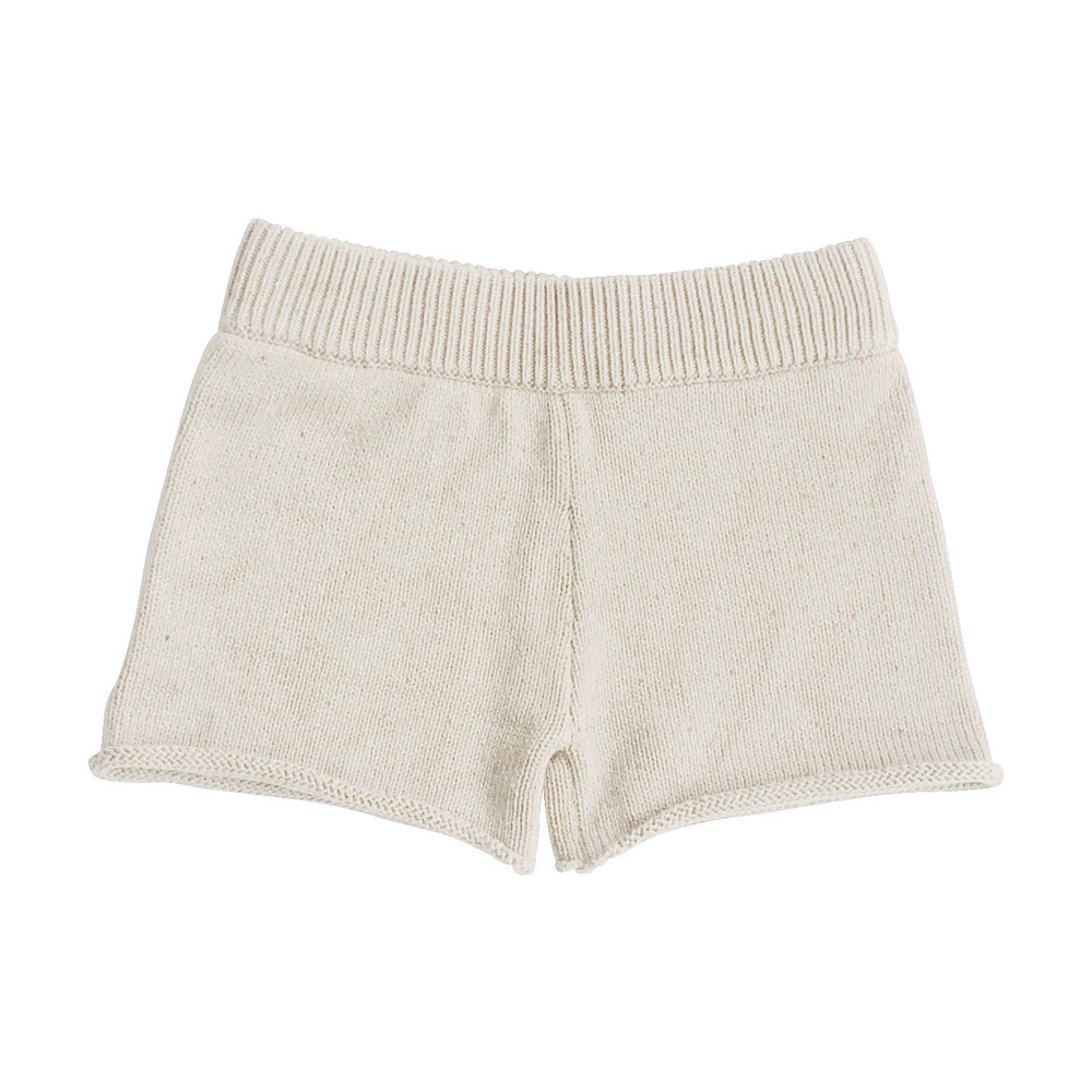 HUNTER & ROSE FLECKED FINE KNIT SHORTS