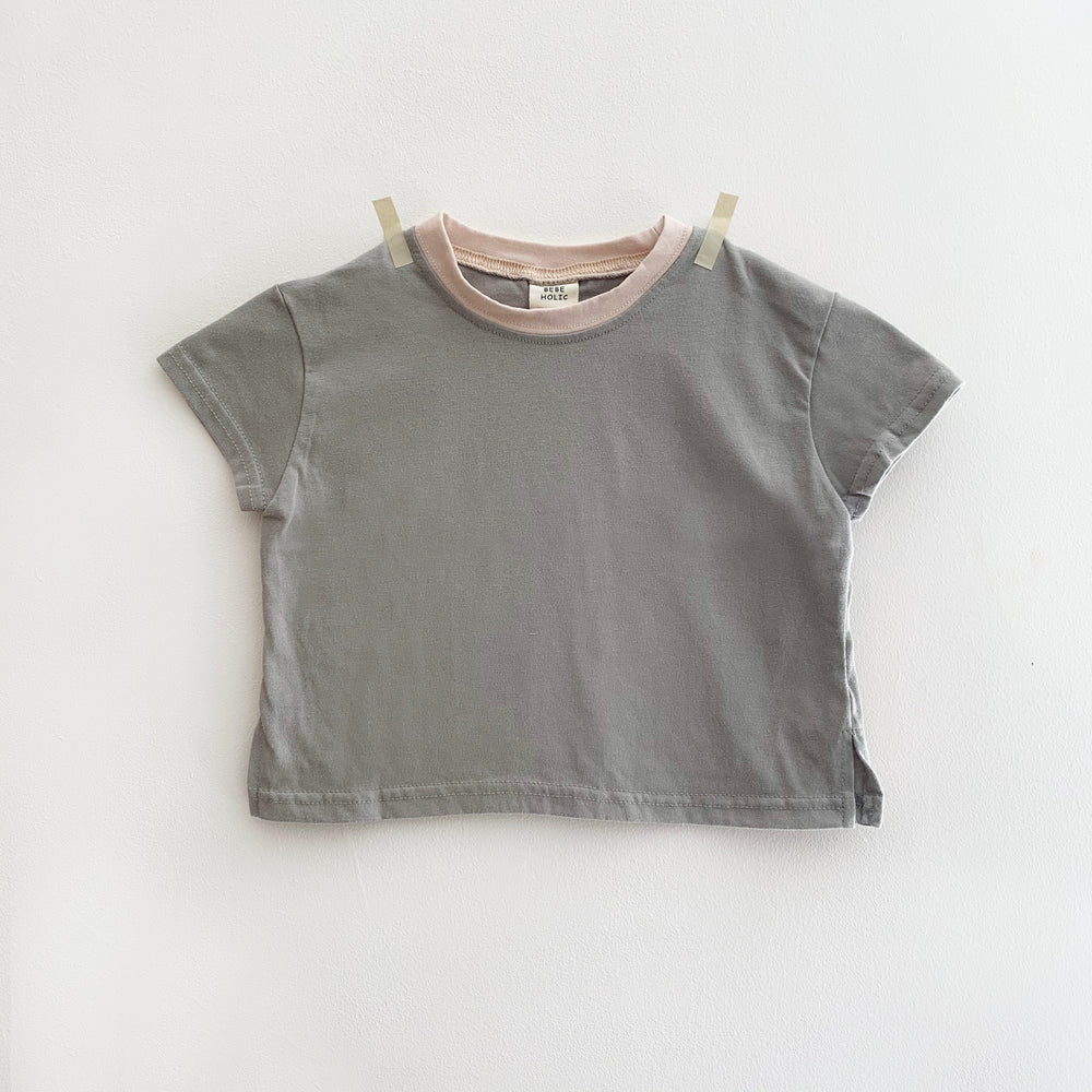 BEBEHOLIC COLOUR BLOCK T-SHIRT GREY/DUSK
