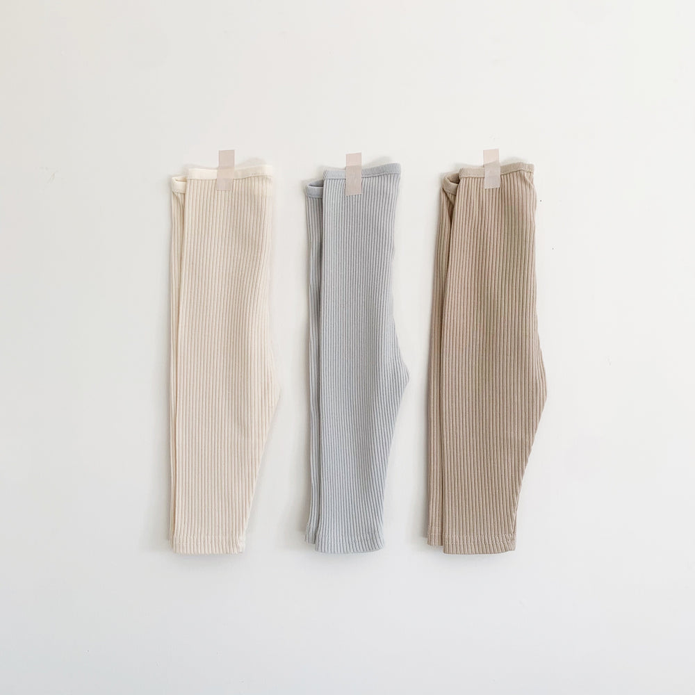 BELLABAMBINA RIBBED LEGGINGS SAND/ICE/MOCHA