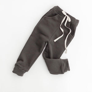 KINDLY SLIM FIT JOGGERS WASHED BLACK