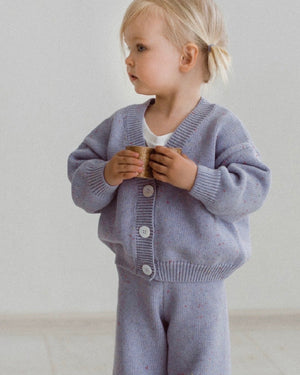 KIDS OF APRIL RAINBOW SPECKLE CARDIGAN LAVENDER