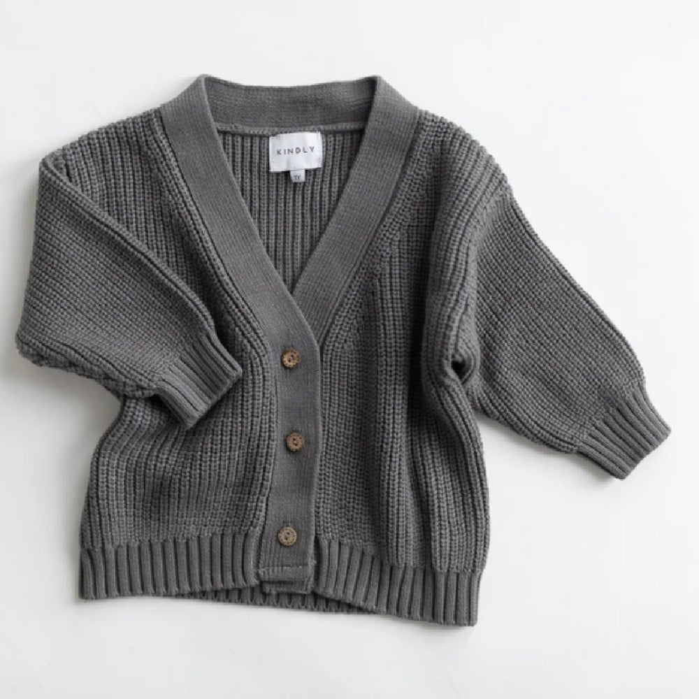KINDLY CHUNKY KNIT CARDIGAN GRAVITY