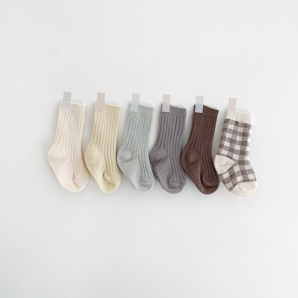 MONBEBE KNEE HIGH SOCKS INDIVIDUAL OR SET