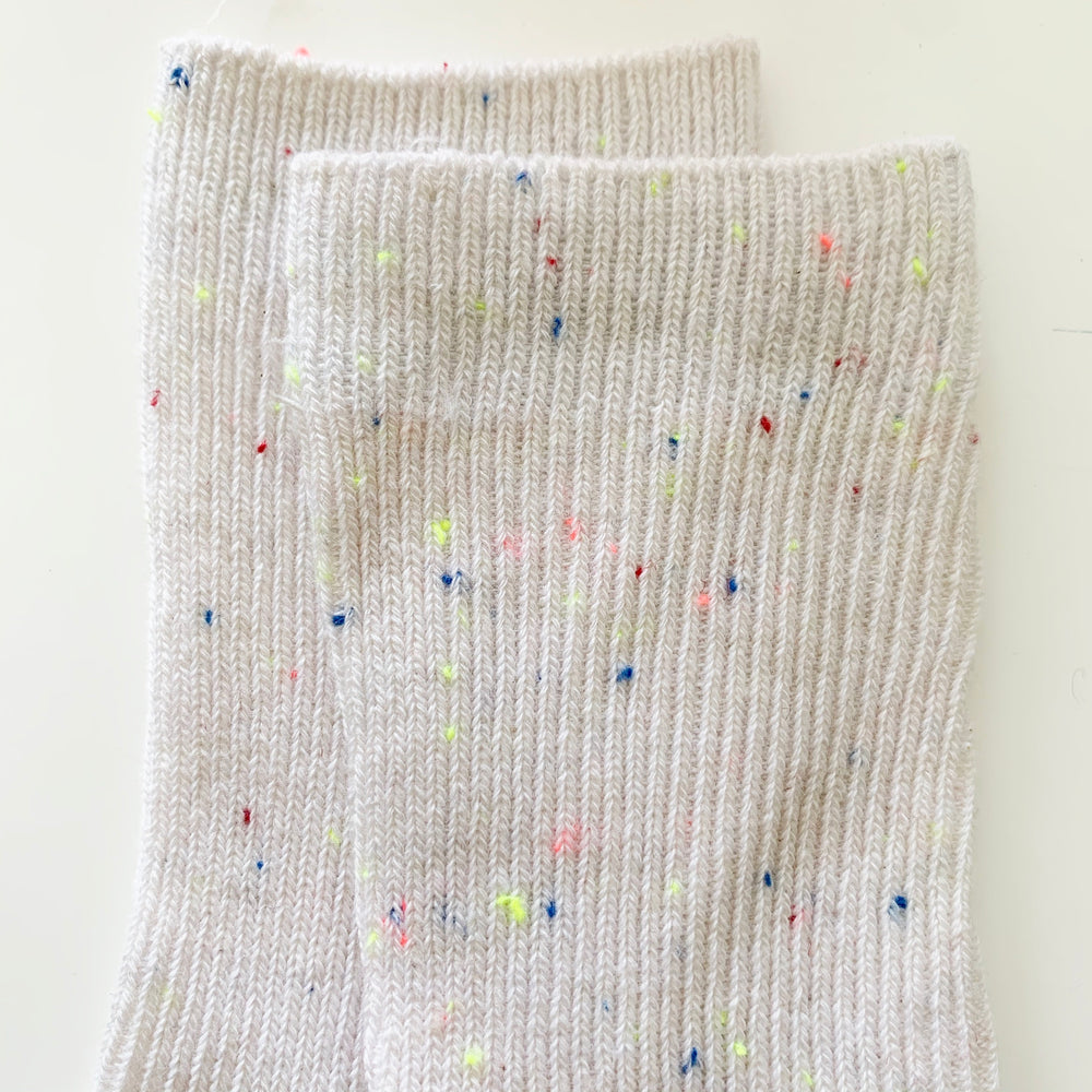 TINY TROVE SPRINKLE SOCKS IVORY