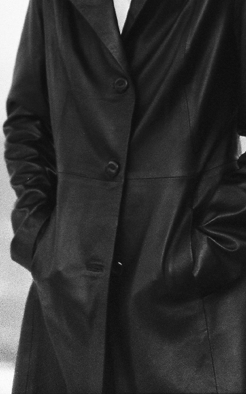 Noir Leather Coat