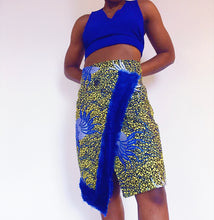 Load image into Gallery viewer, Olori Fur Trim Wrap Skirt