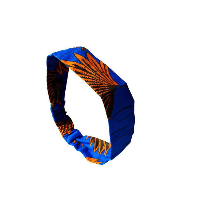 Kelechi Wide Headband in Blue