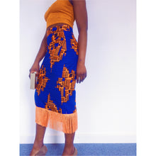 Load image into Gallery viewer, Oreke Midi Skirt in Blue