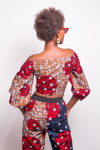 Oyin Off Shoulder Tie-Front Top