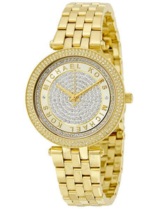 Mini Darci Gold Crystal Pave Dial MK3445