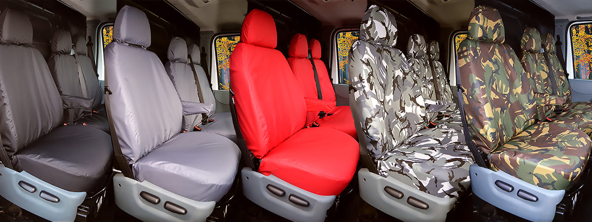 14 on FRONT GREY HEAVY DUTY PAIR CAR SEAT COVER SET FORD TRANSIT CONNECT