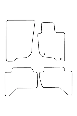 Mitsubishi L200 2006 - 2015 Tailored Front & Rear Rubber Mats