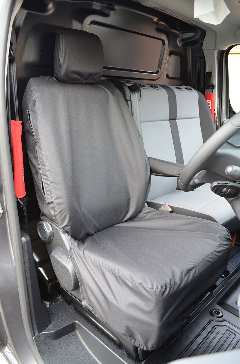 Citroen Dispatch 2016+ Tailored Waterproof Driver Seat Cover Black Turtle Covers Ltd
