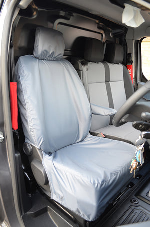 Vauxhall Vivaro 2019+ Tailored Waterproof Driver Seat Cover Grey Turtle Covers Ltd