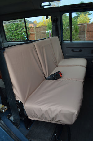 Land Rover Defender 1983 - 2007 Rear Seat Covers 2nd Row 3 Singles / Sand Turtle Covers Ltd