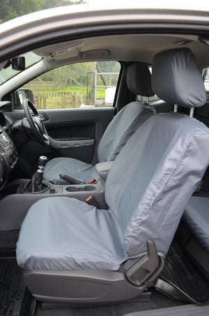 Ford Ranger 2012 Onwards Seat Covers Front Pair Seat Covers / Grey Turtle Covers Ltd