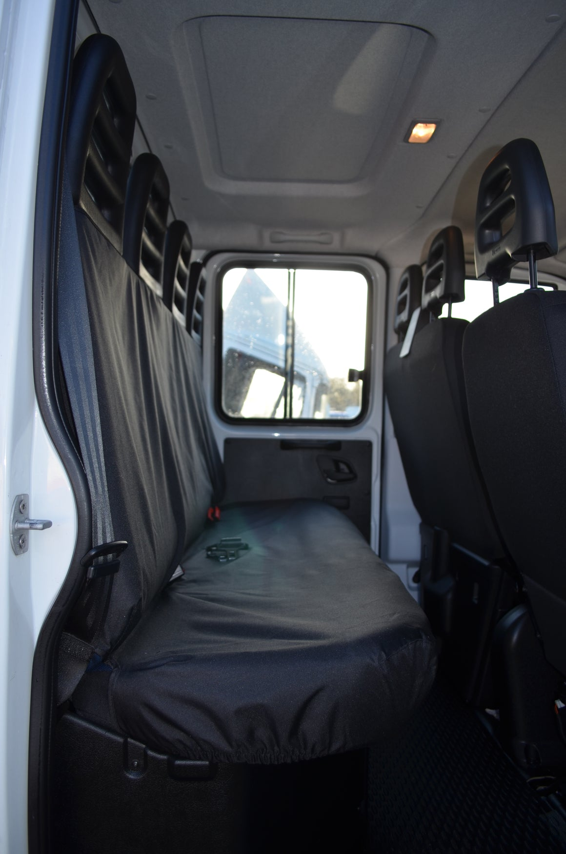 Iveco Daily Van 2014 Onwards Tailored Rear Seat Covers Grey Turtle Covers Ltd