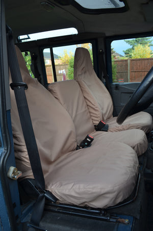 Land Rover Defender 1983 - 2007 Front Seat Covers 3 Front Seats / Sand Turtle Covers Ltd