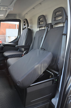 Iveco Daily Van 2014 Onwards Tailored Front Seat Covers  Turtle Covers Ltd