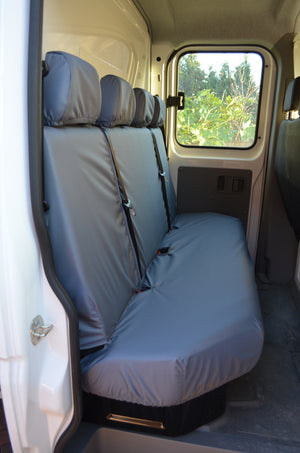 VW Crafter 2017+ Van Tailored & Waterproof Seat Covers Grey / Rear Quad Turtle Covers Ltd