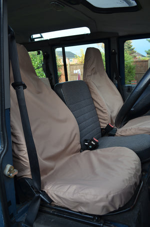 Land Rover Defender 1983 - 2007 Front Seat Covers Front Pair / Sand Turtle Covers Ltd
