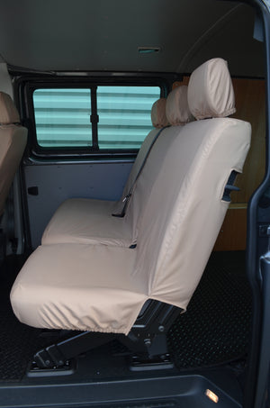 VW Volkswagen Transporter T5 Kombi 2010 - 2015 Rear Seat Covers Single & Double Seats / Beige Turtle Covers Ltd