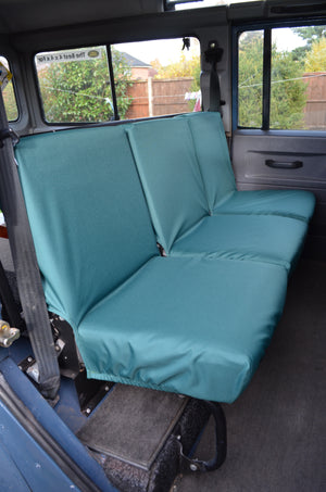 Land Rover Defender 1983 - 2007 Rear Seat Covers 2nd Row 3 Singles / Green Turtle Covers Ltd