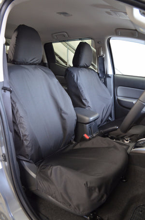 Mitsubishi L200 Series 5 Mark 7 Black Tailored Front Seat Covers