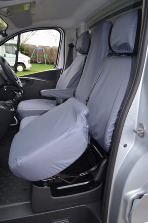 Vauxhall Vivaro 2014 - 2019 Tailored Front Seat Covers  Turtle Covers Ltd