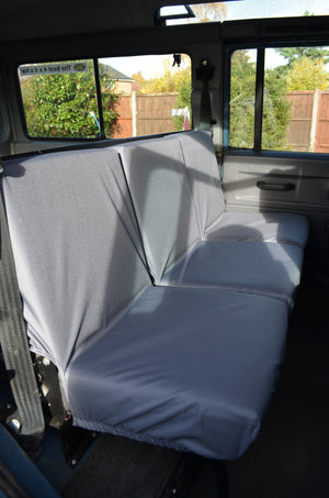 Land Rover Defender 1983 - 2007 Rear Seat Covers 2nd Row 3 Singles / Grey Turtle Covers Ltd