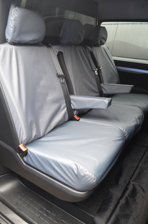 Citroen Dispatch 2016+ Crew Cab Rear Tailored Seat Cover Grey Turtle Covers Ltd