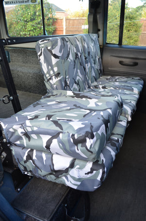 Land Rover Defender 1983 - 2007 Rear Seat Covers  Turtle Covers Ltd