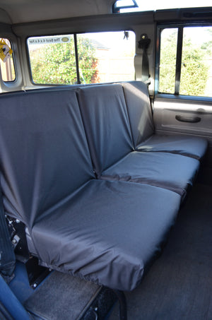 Land Rover Defender 1983 - 2007 Rear Seat Covers 2nd Row 3 Singles / Black Turtle Covers Ltd
