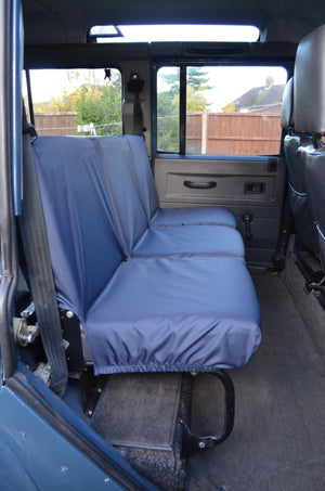 Land Rover Defender 1983 - 2007 Rear Seat Covers 2nd Row 3 Singles / Navy Blue Turtle Covers Ltd