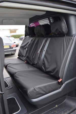 Citroen Dispatch 2016+ Crew Cab Rear Tailored Seat Cover Black Turtle Covers Ltd