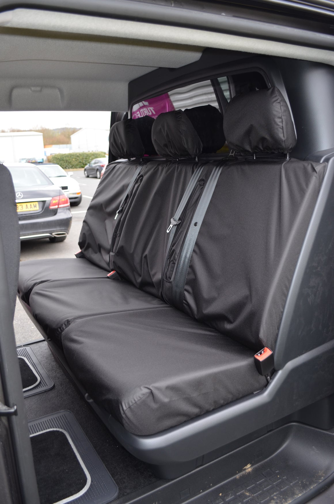 Toyota Proace 2016+ Crew Cab Rear Tailored Seat Cover Grey Turtle Covers Ltd