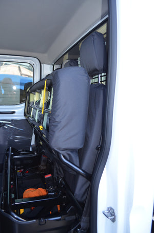 Ford Transit 2014+ Tailored & Waterproof Rear Seat Covers  Turtle Covers Ltd
