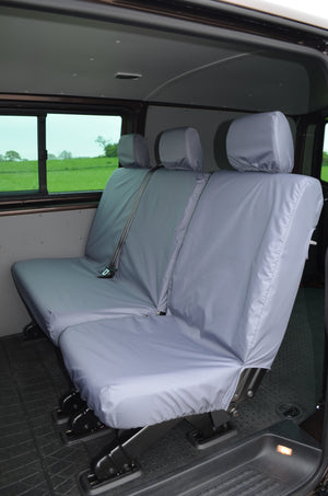 VW Volkswagen Transporter T5 Kombi 2010 - 2015 Rear Seat Covers Single & Double Seats / Grey Turtle Covers Ltd