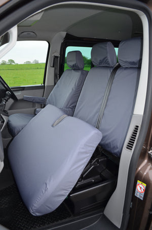 VW Volkswagen Transporter T5 2010 - 2015 Front Seat Covers  Turtle Covers Ltd