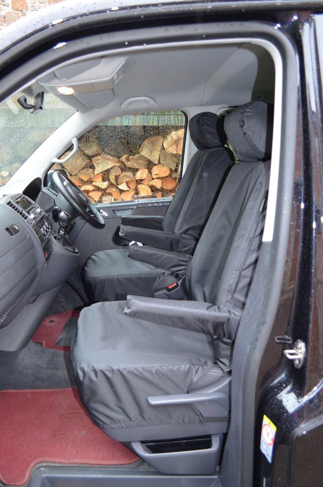 STRONG FABRIC TAILORED SEAT COVERS FOR VOLKSWAGEN T6 COMBI 5 SEATS 2016 ONWARDS