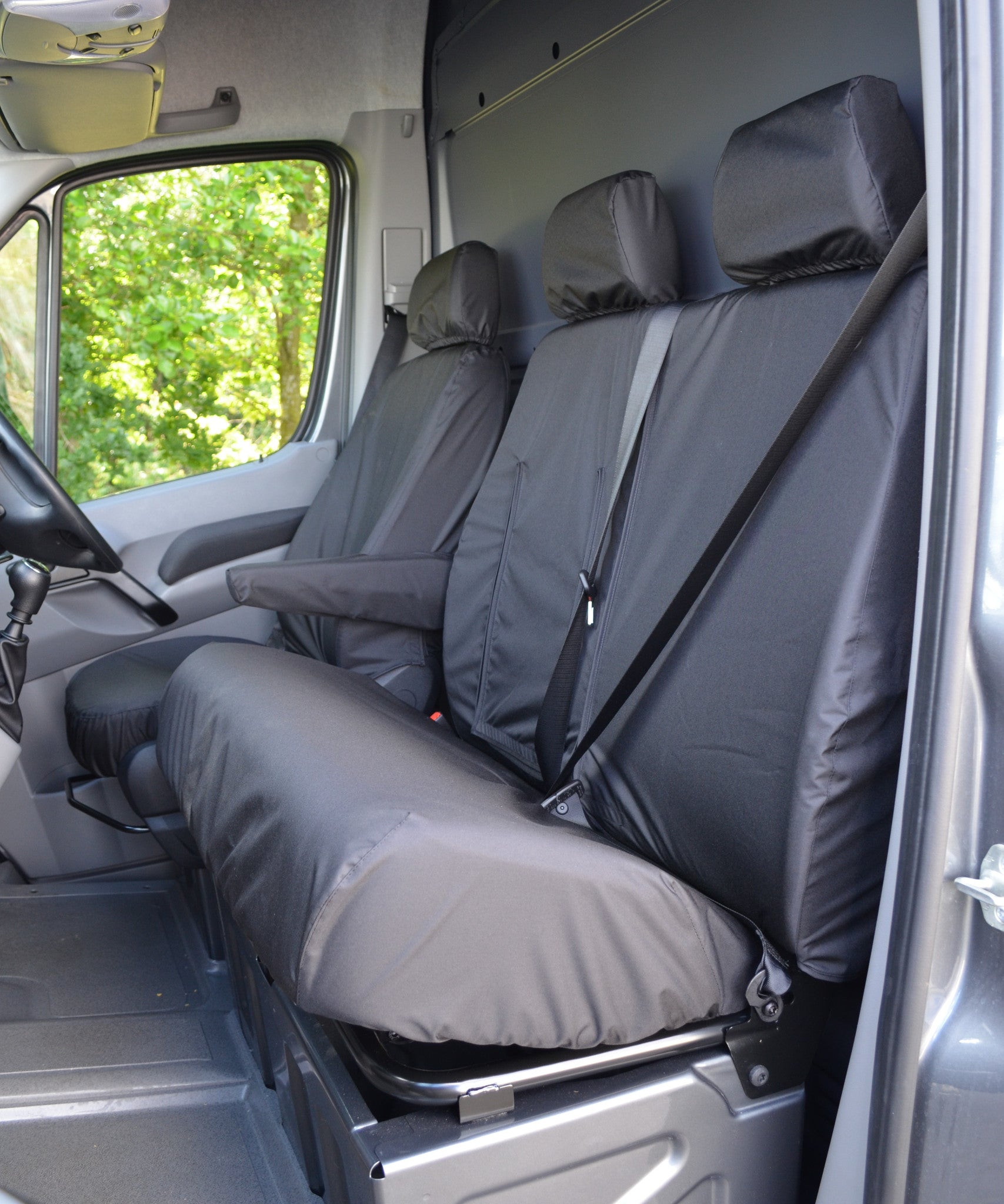 Mercedes Sprinter 2007 2+1 WATERPROOF VAN SEAT COVERS GREY HEAVY DUTY